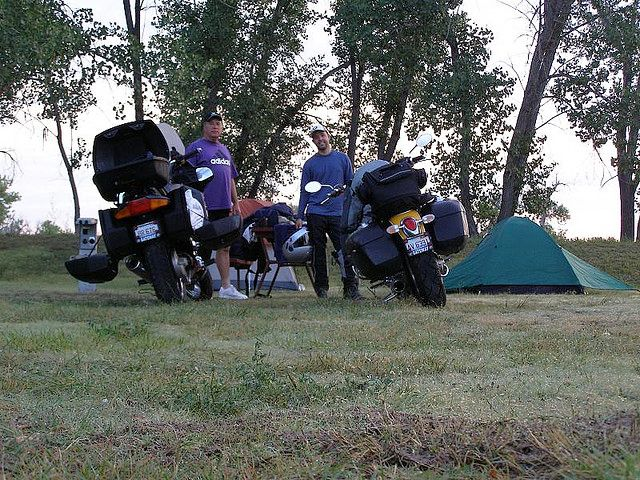 Motorcycle Camping Father-In-Law