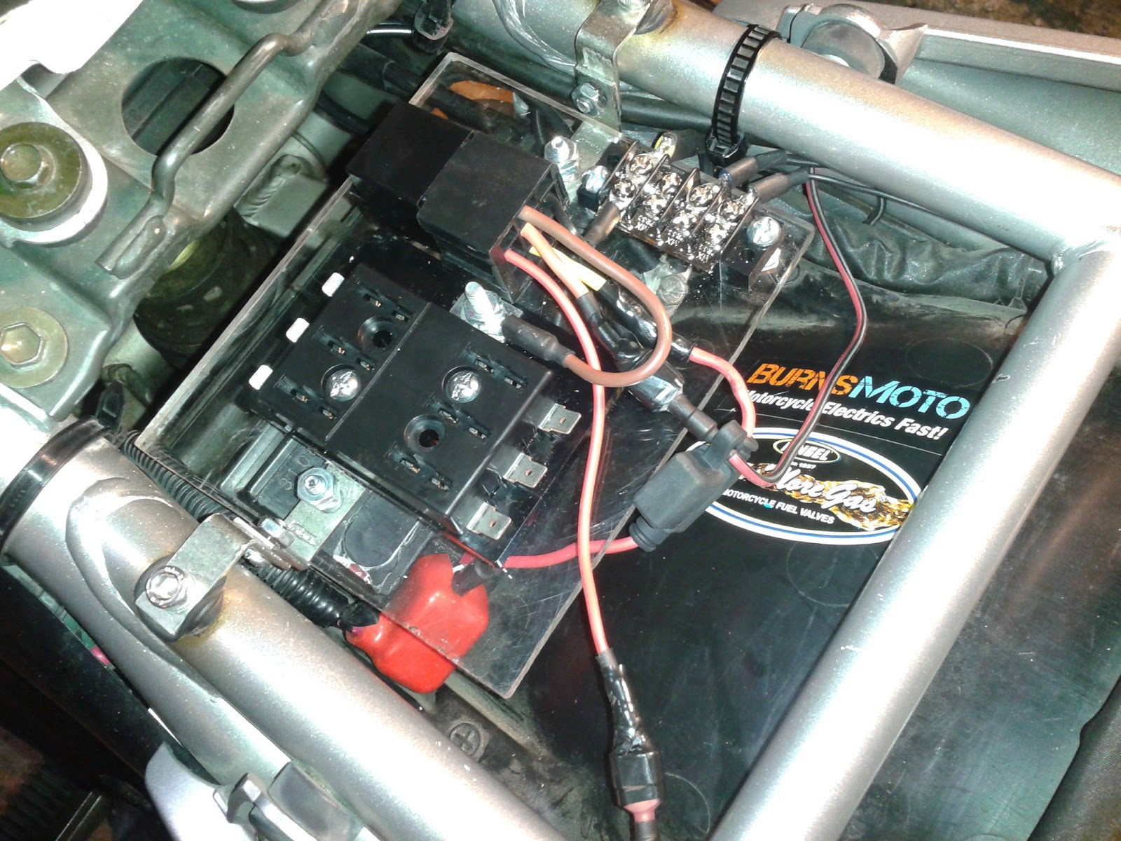Motorcycle Relay Auxiliary Power Installation