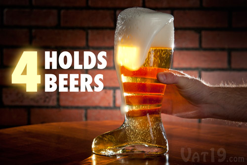 Holds 4 Beers!