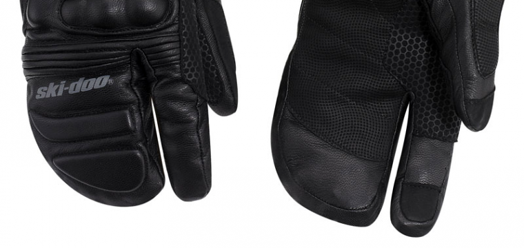 Ski Doo Hybrid Leather Mitts