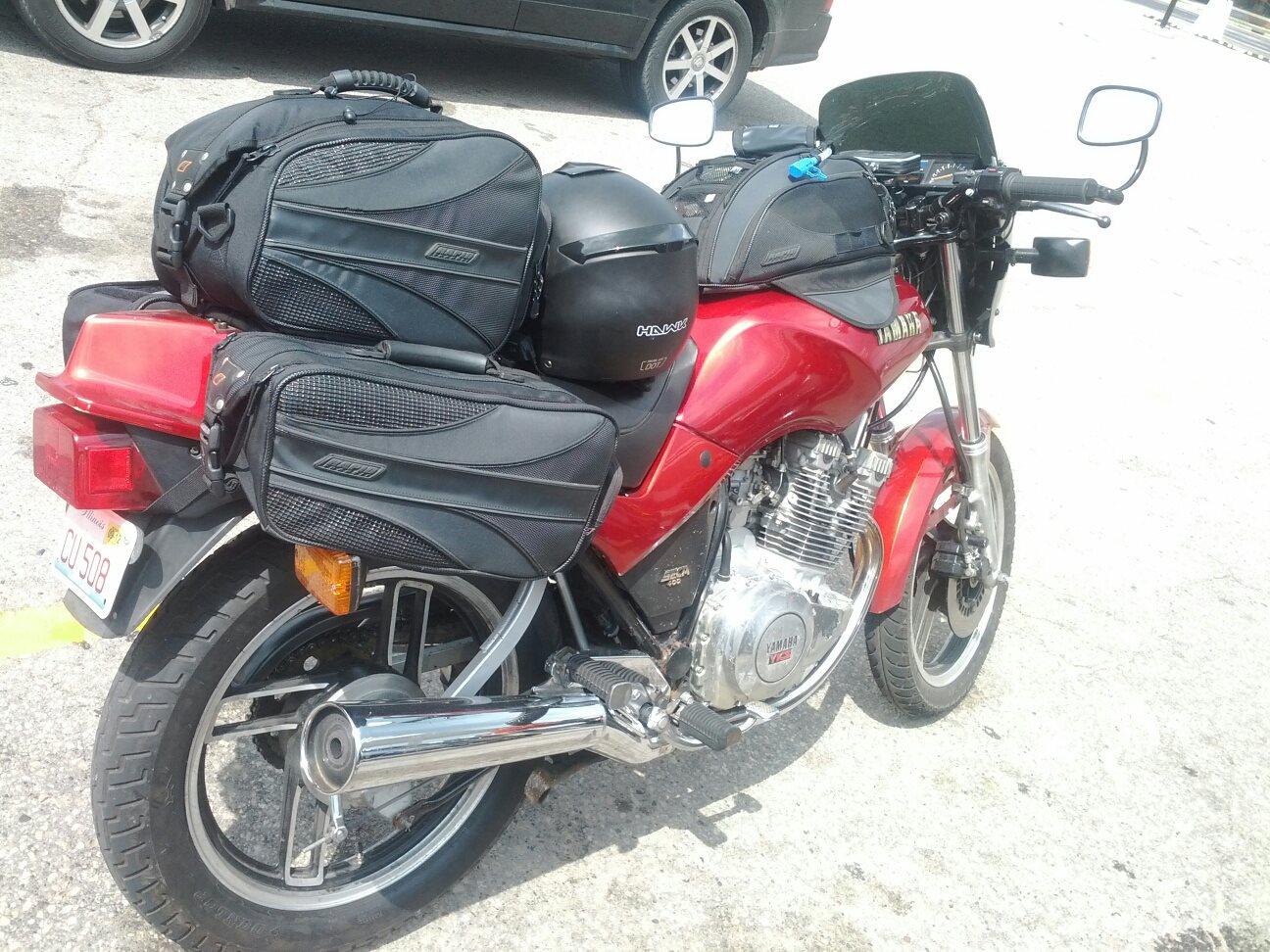 Over Packed Yamaha Seca