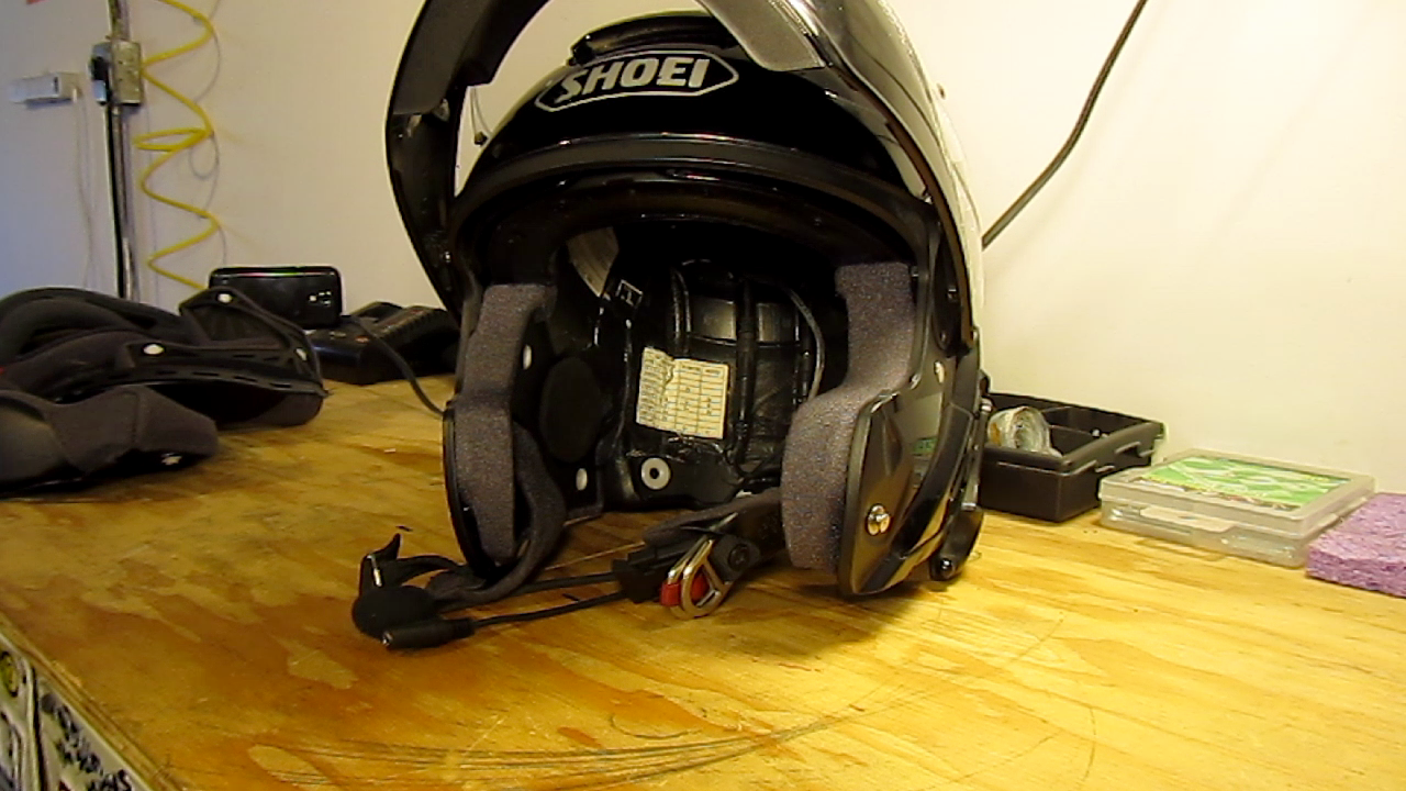 Motorcycle Helmet Intercom Wiring For Speakers And Earbuds Audio Padding Out