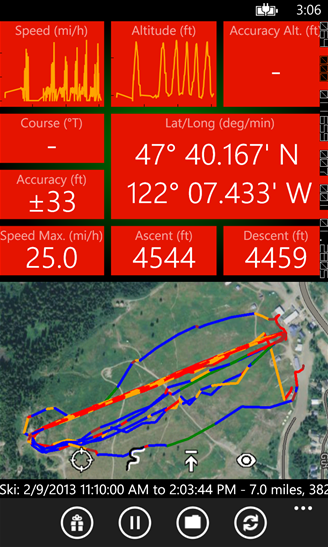 Windows Phone GPS Track Recorder