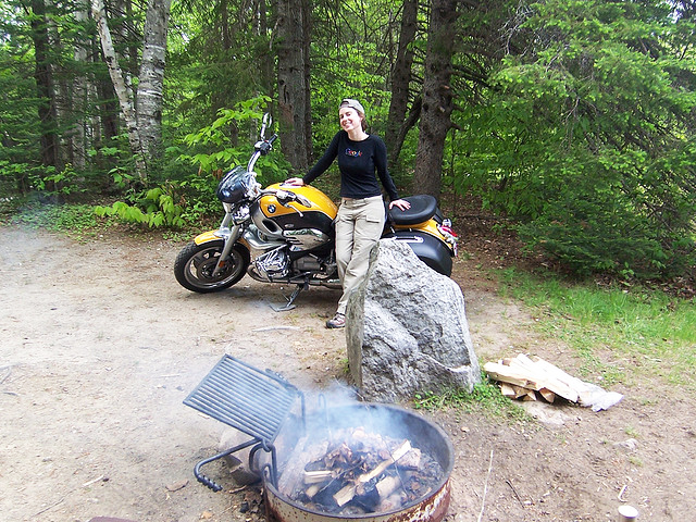 Wife And I Motorcycle Camping