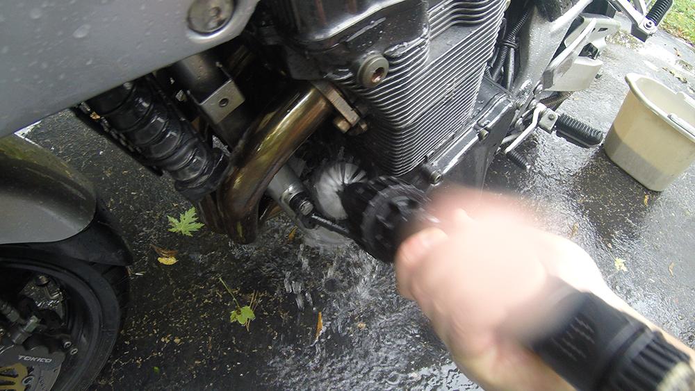 Clean Motorcycle Engine