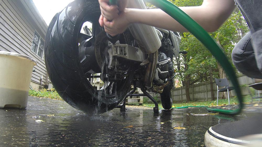 Clean Motorcycle Brakes