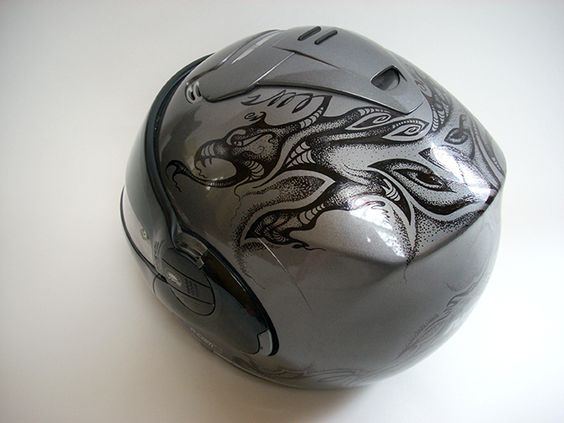 Motorcycle Helmet Art