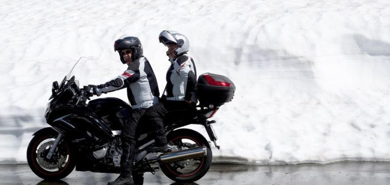 Riding Your Motorcycle On Winter Road Salt