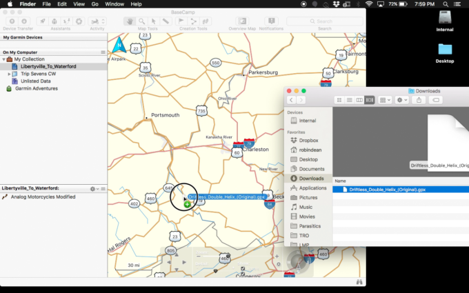 Load & View GPX File Format Riding Routes On Garmin + Others