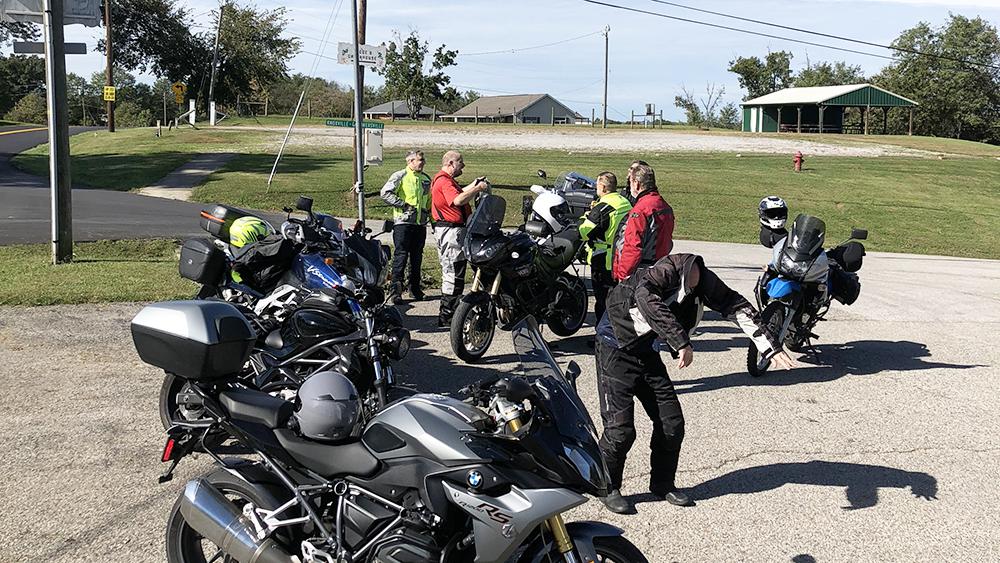 Kentucky Motorcycle Ride Roadside Break