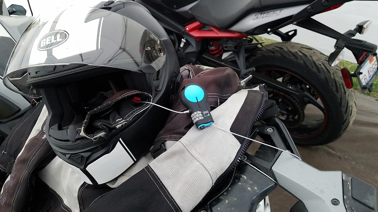 Lewis N. Clark Motorcycle Helmet Lock